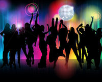 Crowd of party people illustration Stock Photo