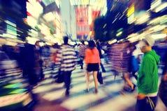 Crowd Pedestrian Walking Japan Concept Stock Photo