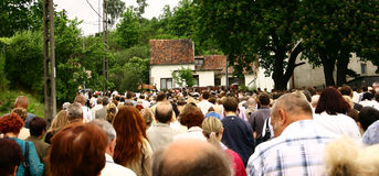 Crowd of people. People walking in large group Royalty Free Stock Photography