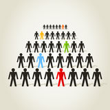 Crowd of people. The crowd the person goes a line. A vector illustration Stock Image