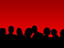 Crowd of people. Silhouette of a crowd of people stock illustration