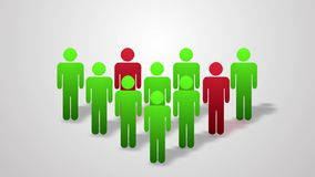 A crowd of people animation. Info graphics. Infection. stock video footage