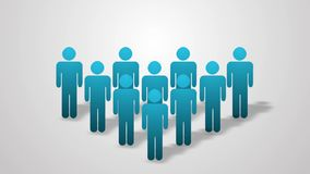 A crowd of people animation. Info graphics. 4K 3840x2160 stock video
