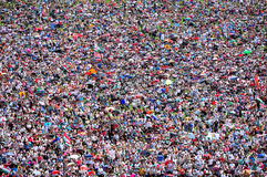 Crowd of people background Stock Photos