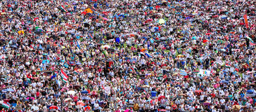 Crowd of people background Royalty Free Stock Image