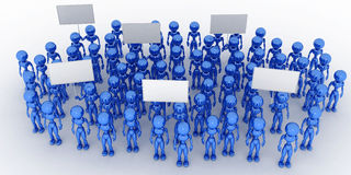 A crowd of people with blank poster #1 Royalty Free Stock Photos