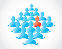 Crowd people candidate Royalty Free Stock Images
