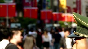 Crowd people in china stock footage