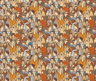 Crowd people color seamless pattern. Color vector illustration. EPS8 stock illustration