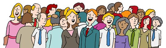 Crowd of People at Company Event Banner. An image of a Crowd of People at Company Event Banner Royalty Free Illustration
