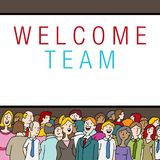 Crowd of People at Company Event Welcome Team State Stock Images