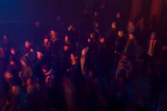 Crowd of people in a concert Stock Image