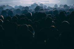 Crowd of people at the concert. Horizontal  background Royalty Free Stock Image
