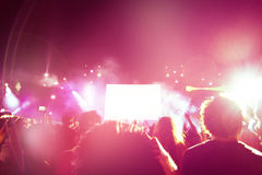 Crowd of People At Concert Royalty Free Stock Image