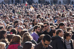 Crowd of people. Countless heads. Royalty Free Stock Photography