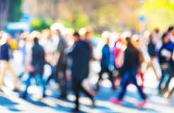 Crowd of people. Crossing a street Royalty Free Stock Photography