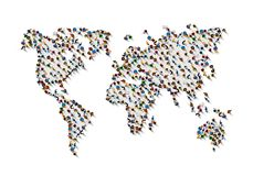 Crowd of people. Crowd of people in the form of world map on white background . Vector illustration vector illustration