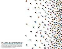 A crowd of people. On a white background, Business cover. Vector illustration vector illustration