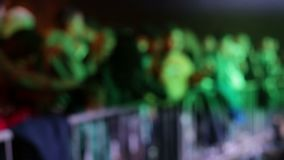 A crowd of people in the disco dancing. under light music.  stock footage