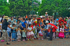Crowd of people at disney land, hong kong Stock Images