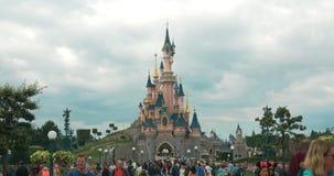 Crowd of people in Disneyland Paris