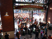 Crowd of People entering AT&T Park Royalty Free Stock Images