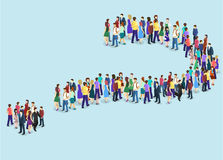 Crowd of people In the form of a question mark Stock Images