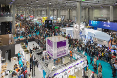Crowd of people at Games Week 2015entertainment on OCTO Royalty Free Stock Photo