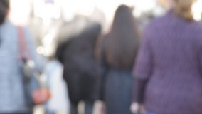Crowd of the people stock footage