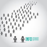 Crowd of people icons Royalty Free Stock Photo