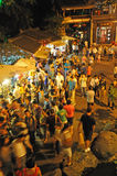 Crowd people in jinli old street Royalty Free Stock Image