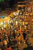 Crowd people in jinli old street Royalty Free Stock Image