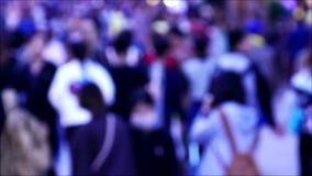 Crowd people, 4k video stock footage