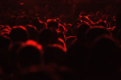 Crowd of people at a live concert Stock Images