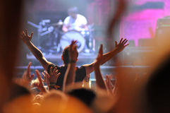 Crowd of people at a live concert Royalty Free Stock Photography