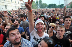 Crowd of people at a live concert Stock Photography