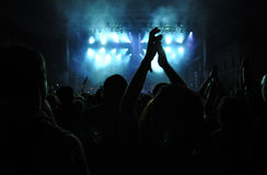 Crowd of people at a live concert Royalty Free Stock Images