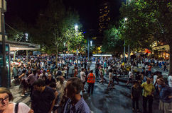 Crowd of people in Melbourne during White Night Royalty Free Stock Image