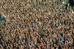 Crowd of people stock photography