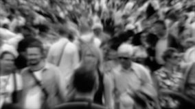 Crowd of people. Monochrome version with blur Stock Photos