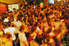 Crowd people,motion blur Royalty Free Stock Photo