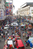 Crowd of people near the New Market, Kolkata, India Royalty Free Stock Photo