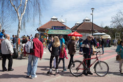 Crowd people on the pier. Royalty Free Stock Image