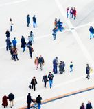 Crowd aerial view. Motion blur Royalty Free Stock Photo