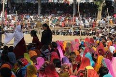 Crowd of people at Pushkar fair Stock Image