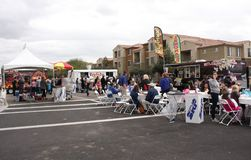 Crowd of people at Queen Creek Block Party, Queen Creek, Arizona Stock Image