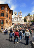 Crowd of people in the Rome Royalty Free Stock Images