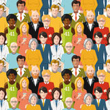 Crowd of people seamless pattern Stock Images