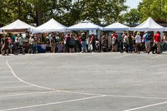 Crowd Of People Shop For Antiques At Braselton Antique Festival Stock Photos