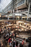 Crowd people. Shopping center in Toronto, Canada. Royalty Free Stock Photo
